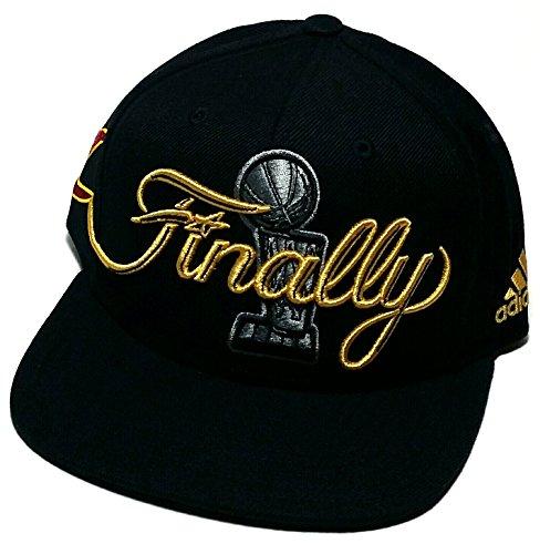 Cleveland Cavs Cavaliers Adidas NBA Finals Trophy Finally Black Snapback Hat Cap ()