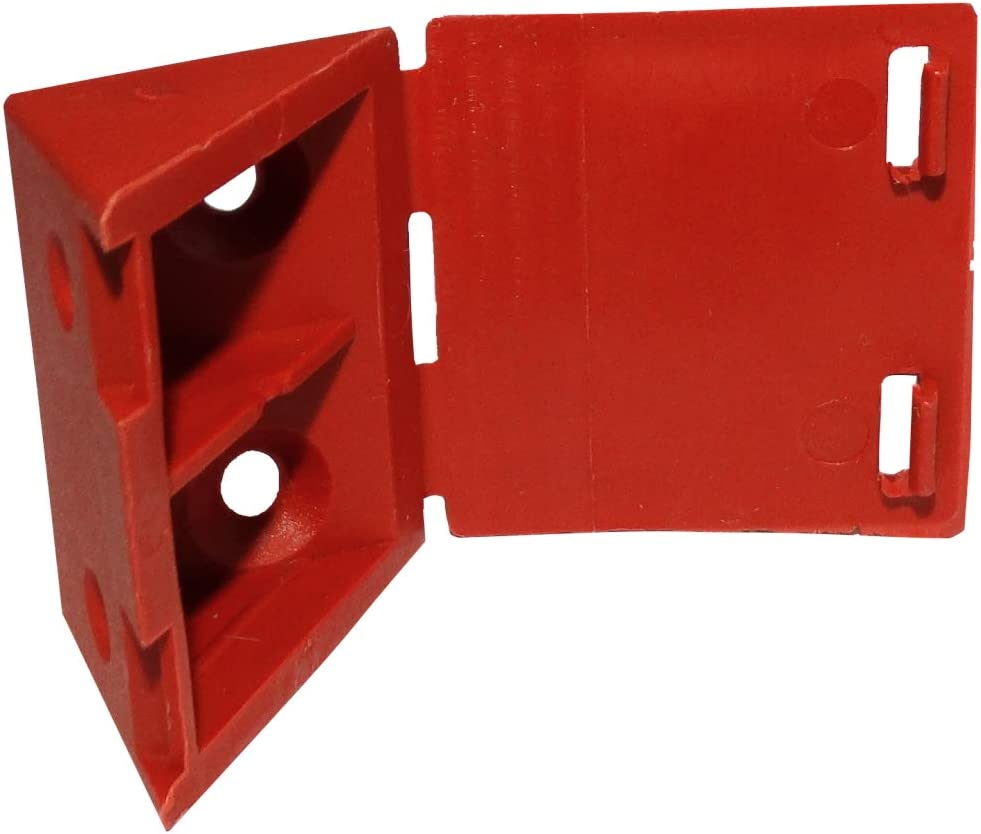 AERZETIX: Juego de 50 escuadras de ángulo plástico triangular para ensamblaje de muebles panel 29/30/21mm, color cereza C43505