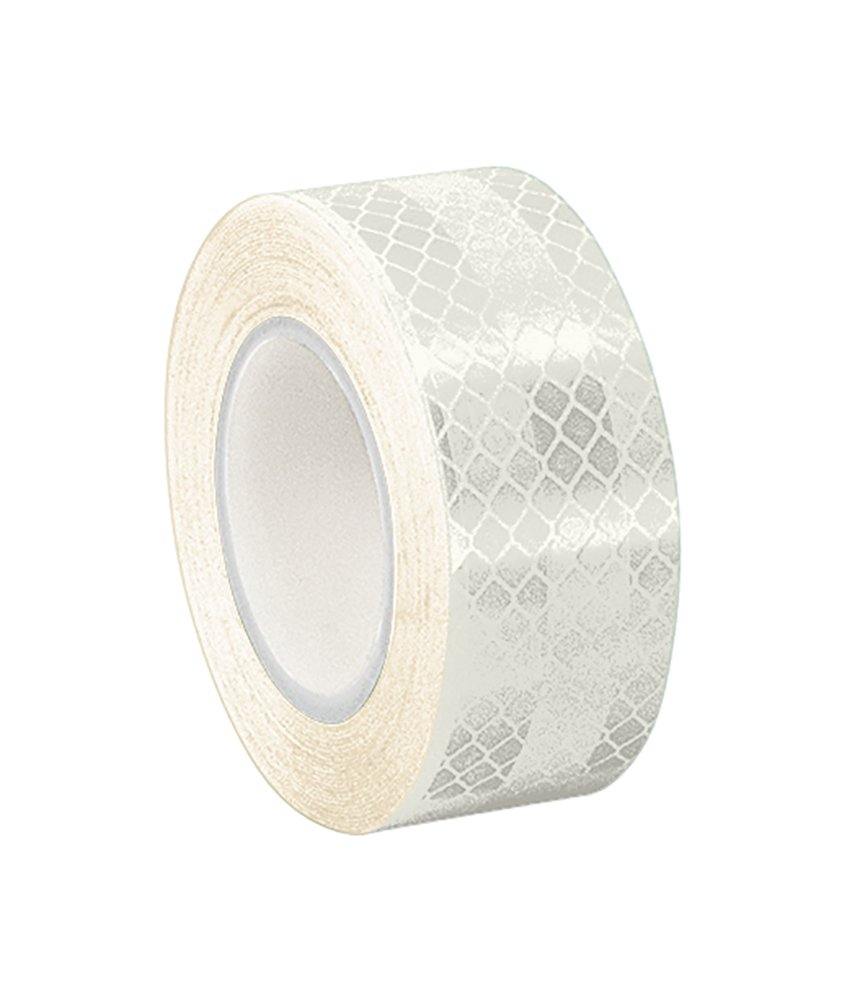 TapeCase 0.625-5-3430 White Micro Prismatic Sheeting Reflective Tape Converted from 3M 3430, 0.625' x 5 yd 0.625 x 5 yd