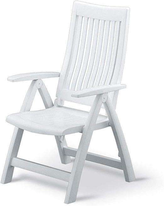 Sedie Plastica Giardino Roma.Kettler Pieghevole Poltrona Roma Frame Completamente Bianco Di