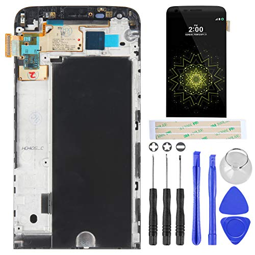 Replacement Parts for LG G5,H840 H850 H820 H831 VS987 LS992,with Frame and Touch Screen Digitizer,Tools Include(Black)