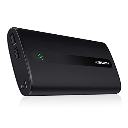 Aibocn 20000mAh Portable Charger External Battery Power Bank with Flashlight for Apple Phone iPad Samsung Galaxy Smartphones Tablet and More, Black