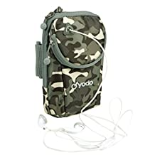 Yodo Versatile Running Cell Phone Armband Case with 2 Pouches Fits ipod / iPhone 7/ 6S Plus / Samsung Galaxy S7 S6 S5 Note and Key Dollar ID Card for All Sports