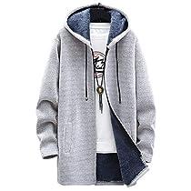 [ゴスファング] ロング パーカー 裏起毛 コート アウター フード カジュアル 防風 防寒 秋冬 メンズ