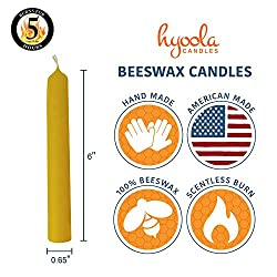 Hyoola Beeswax Candles 12 Pack – Handmade, All N