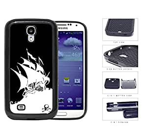 Pirate Ghost Ship Silhouette B&W 2-Piece Dual Layer High Impact Silicone Cell Phone Case Samsung Galaxy S4 SIV I9500