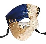Luxury Mask Phantom of The Opera One Eyed Masquerade Mask Vintage Design