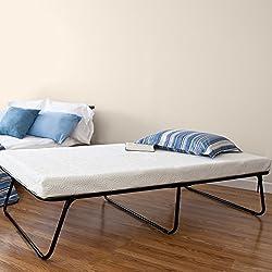Zinus Sleep Master Traveler Premier Folding Twin Guest Bed, Plus Bonus Storage Bag