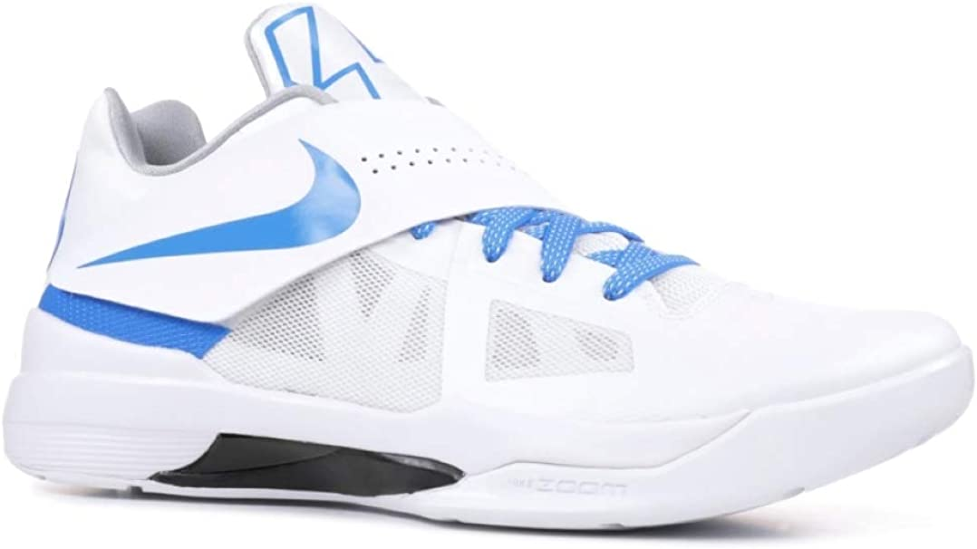 Digno Desnudo Escuela de posgrado  Amazon.com | Nike Men's KD 4 QS Thunderstruck, White/Photo Blue ...