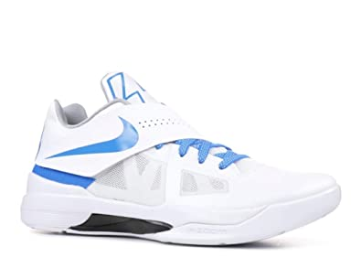 huge selection of af314 deef1 Amazon.com   NIKE Men s KD 4 QS Thunderstruck, White Photo Blue-Wolf Grey- Black   Shoes