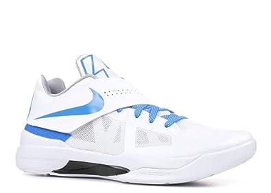 brand new 88dd5 40c7c Amazon.com   Nike Men s KD 4 QS Thunderstruck, White Photo Blue-Wolf Grey-Black    Fashion Sneakers