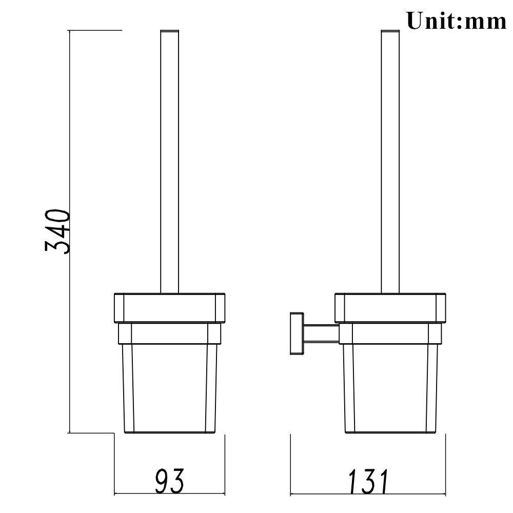 QiuQiu Porta Carta Igienica in acciaio inossidabile supporto da parete per rotolo di carta igienica per il bagno Resistente alla corrosione Cromo