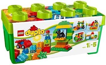 LEGO Duplo Caja de Diversión Todo en Uno - Juegos de construcción, 1,5 año(s), 65 Pieza(s), Niño/niña, 5 año(s), Duplo: Amazon.es: Juguetes y juegos