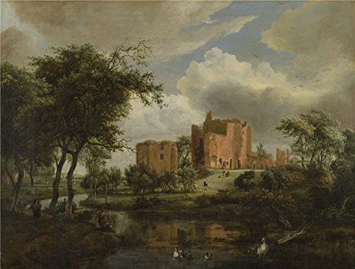[The High Quality Polyster Canvas Of Oil Painting 'Meindert Hobbema The Ruins Of Brederode Castle ' ,size: 10 X 13 Inch / 25 X 34 Cm ,this Amazing Art Decorative Canvas Prints Is Fit For Game Room Decoration And Home Artwork And] (Chicago The Musical Costume Ideas)