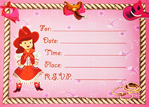 Dolce Mia Horsey Girl Party Invitation Party Pack - 8 cards