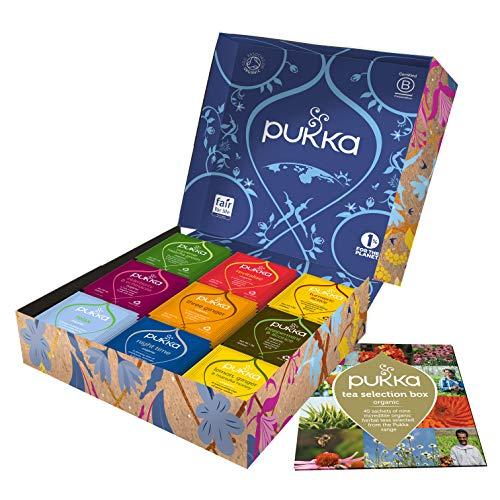 Large Selection Box - Pukka Tea Selection Box, Collection of Organic Herbal Teas (1 Box, 45 Sachets)