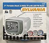 Sylvania 5 in Portable B&W TV 3-way Power