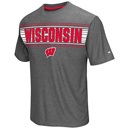 Wisconsin Badgers Colosseum Adult Vandelay S/S Performance Tee (Large) (Wisconsin Badgers Mens Basketball)