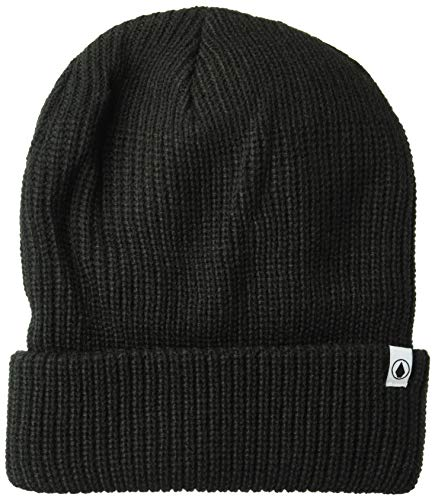 (Volcom Men's Classic Maritime Naval Rolled Cuff Beanie, Black, ONE Size FITS All)