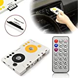 Gavita-Star - New V intage Car Tape Cassette SD MMC MP3 Player Adapter Kit With Remote Control Instruction Stereo Audio Cassette Player