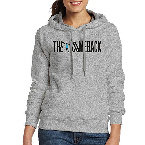 FUOCGH Women's Pullover The Comeback Hoodie Sweatshirts Ash XXL