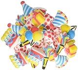 Lucks Dec-Ons Molded Sugar Cupcake Topper, Mini Birthday Assortment, 7/8-1 1/2 Inch, 210 Count
