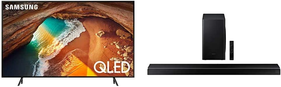 Samsung 65-Inch QLED 4K Q60 Series (2019) Ultra HD Smart TV with Samsung HW-Q60T 5.1ch Soundbar (2020)