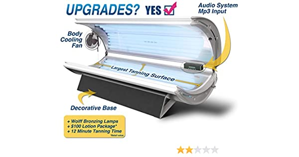 strip Tanning bed white