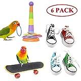 BWOGUE Bird Training Toys Mini Sneaker Skateboard