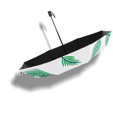 LXY Ultraligero Parasol Protector Solar Protección UV Mujer Vinilo Clima Lluvia Doble Plegable Mini Cinco Paraguas