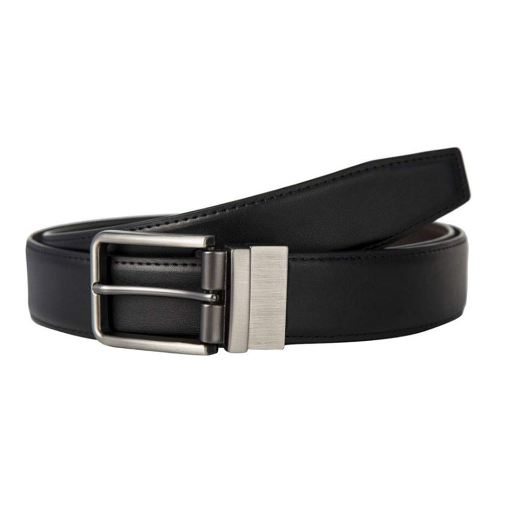 Belt for Men Dress with Click Buckle Double Sided Front Black, Reverse Dark Brown Easy to Match Fmissyao Men s Belt