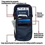 RFID Blocking Neck Stash Passport , Unisex , Black , Blue ,Tan , or Grey