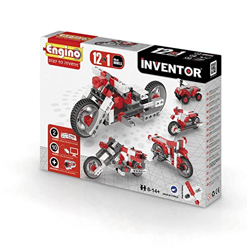 Engino.net Ltd Inventor Build 12 Models Motorcycle Bikes Construction Kit ()