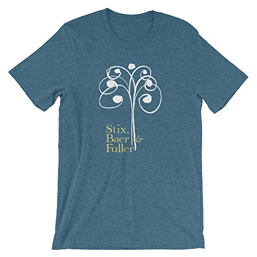 Bygone Brand Stix, BAER & Fuller Short-Sleeve Unisex T-Shirt - St. Louis Retro Tees Blue XL