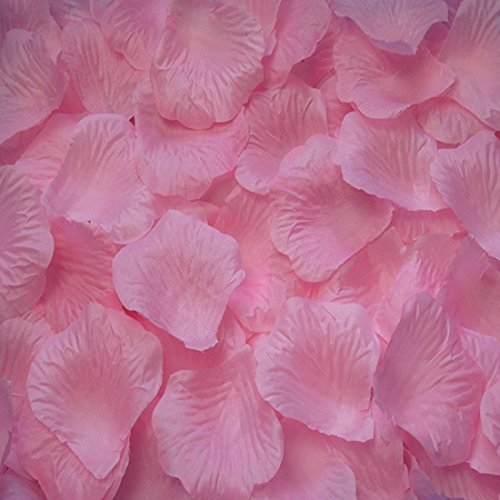 Pack of 1000 Silk Rose Petals, Artificial Flowers for Decoration Wedding Party (Light