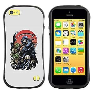 Be-Star Impreso Colorido Diseño Antichoque Caso Del Iface Primera Clase Tpu Carcasa Funda Case Cubierta Par Apple iPhone 5C ( moon grim reaper death hell hood )