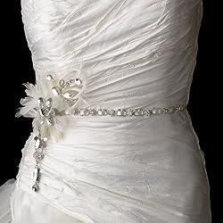 Crystals Feather Fascinator Bridal Sash