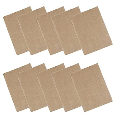 Hessian Burlap Place Mat Handmade Set of 10 Table Mats Kitchen Dining Decor