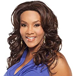 Vivica A. Fox BRITNEY-V New Futura Fiber, Deep Lace Front Wig in Color P2216