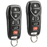 2008 nissan quest keyless - Car Key Fob Keyless Entry Remote fits Nissan 2004-2009 Quest (KBRASTU51, 211B-ASTU51), Set of 2