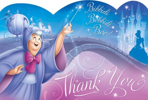 Fairy Godmother Costume Images (Cinderella Thank You Notes (8) Note Cards Princess Disney Birthday Party by Amscan)