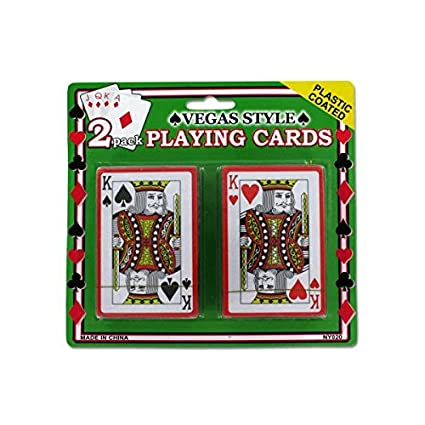 Amazon.com: 2 barajas Vegas estilo estuche de tarjetas 72 ...