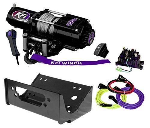 KFI Combo Kit - U45-R2 4500lbs Winch & Mount Bracket - 2012-2013 Kawasaki Teryx4 750 & 2014-2018 Teryx & Teryx4 800 (Brackets Kit Combo)