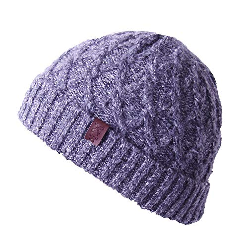 Cable Knit Beanie - Thick, Soft & Warm Chunky Beanie Hats for Women & Men - Serious Beanies (Navy Blue8)
