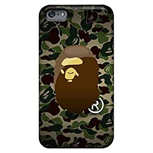 iphone 4 /4s Unique phone carrying case cover Awesome Look Hybrid camo bape