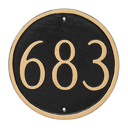 Montague Metal Circle Address Sign Plaque, 6.5