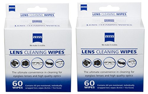 (Zeiss Pre-moistened Lens Cleaning Wipes (120 Wipes))