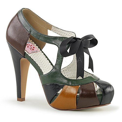 Pin Up Couture Donna Bettie-19 Sandalo Marrone Multi Ecopelle