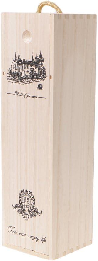 GROOMY Verpackung Box Holz hochwertige ma/ßgeschneiderte Kiefernholz Rotweintr/äger Geschenk
