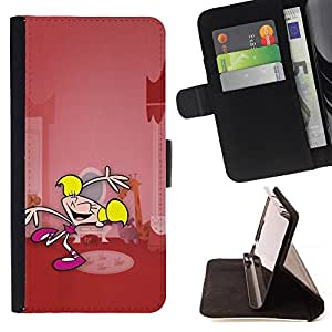 For Samsung Galaxy S3 Mini I8190Samsung Galaxy S3 Mini I8190 Cartoon Superhero Girl Pink Character Style PU Leather Case Wallet Flip Stand Flap Closure Cover